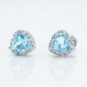 Beautiful Sterling Silver Topaz Earrings
